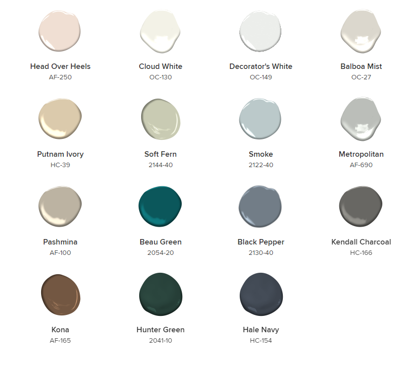 Benjamin Moore paint colors 2019