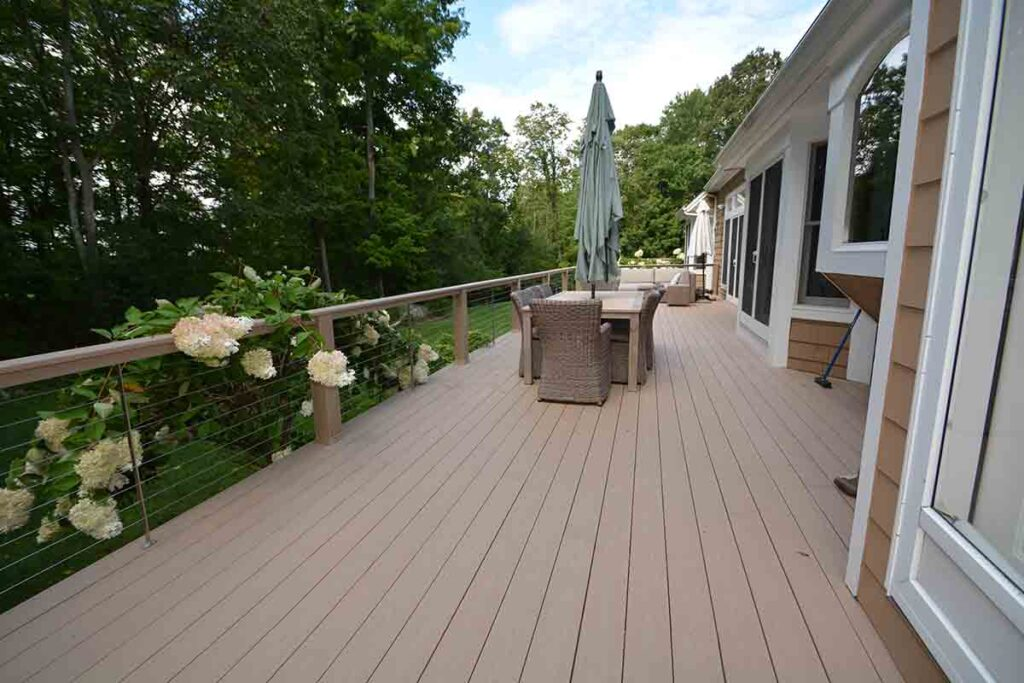 Deck in back of house